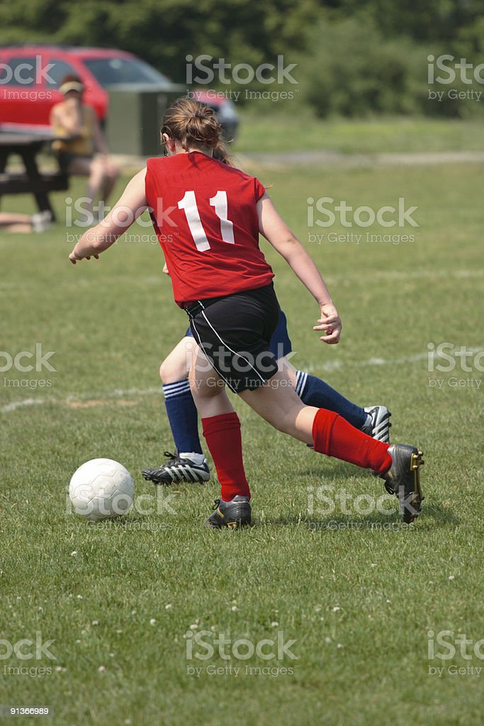 Girl on Soccer Field 47 royalty-free stock photo