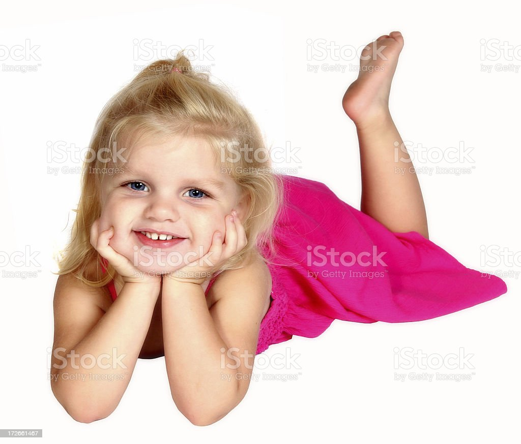Girl on Stomach royalty-free stock photo