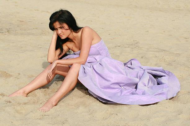 Mädchen am Strand – Foto