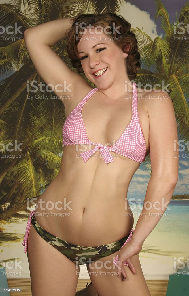 girl on the beach royalty-free stock photo