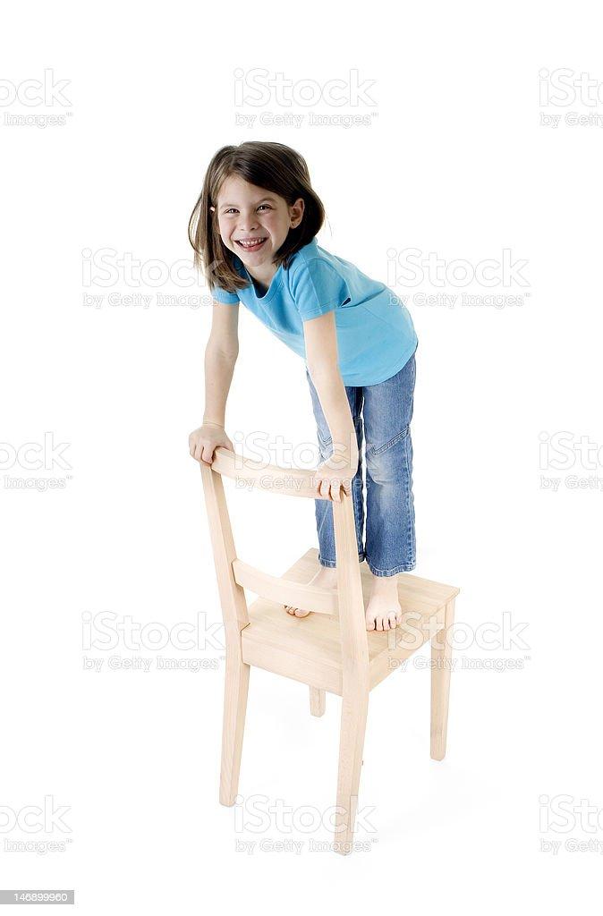 Das Mädchen auf dem Stuhl – Foto