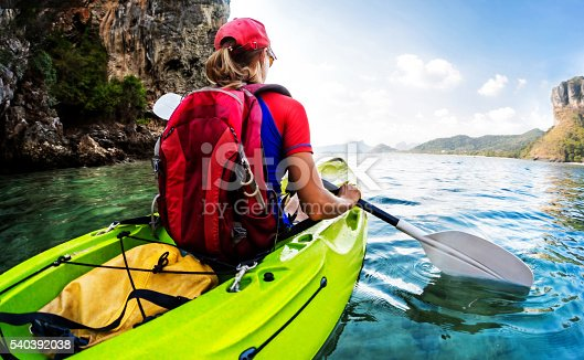 istock Girl on the kayak 540392038