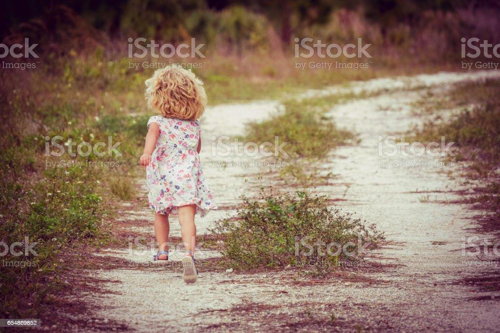 Girl on the Run stock photo