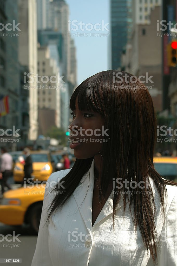Girl on the street royalty-free stock photo