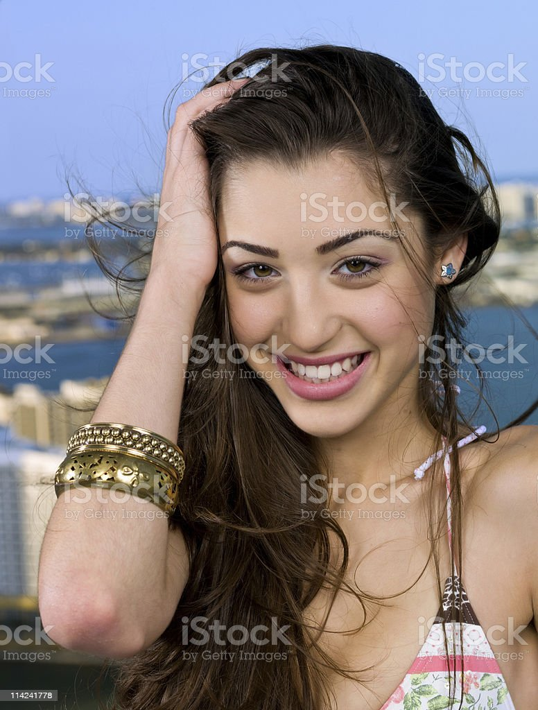 Girl on Vacation royalty-free stock photo