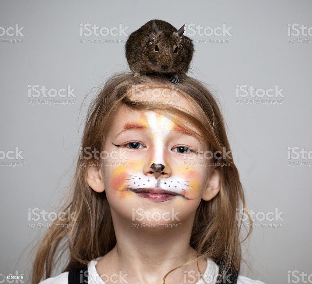 Malowany Kot Na Twarzy