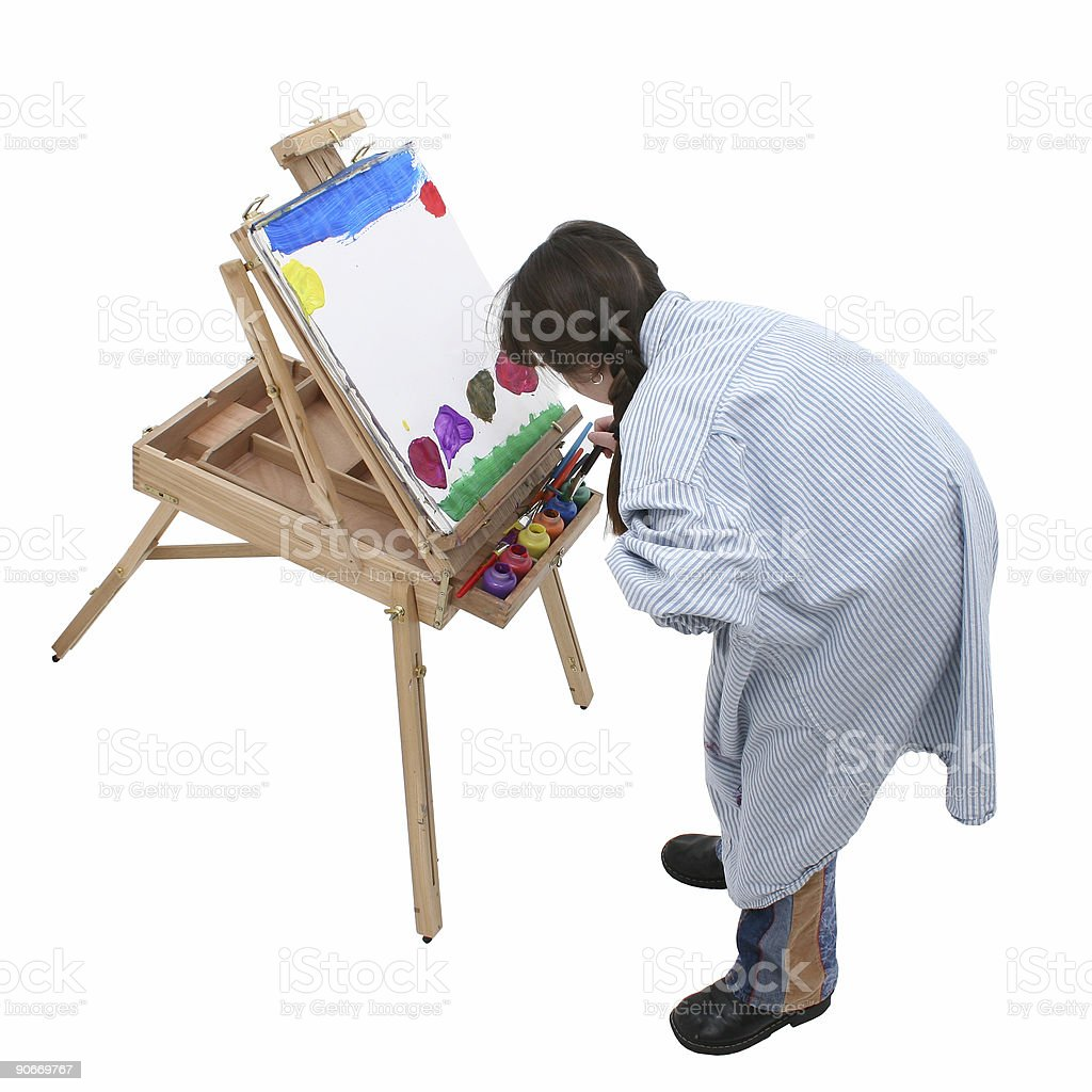 Girl Painting 03 royalty-free stock photo