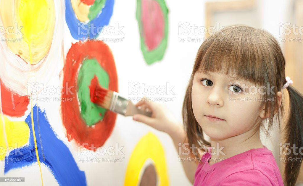 Girl painting royalty-free stock photo