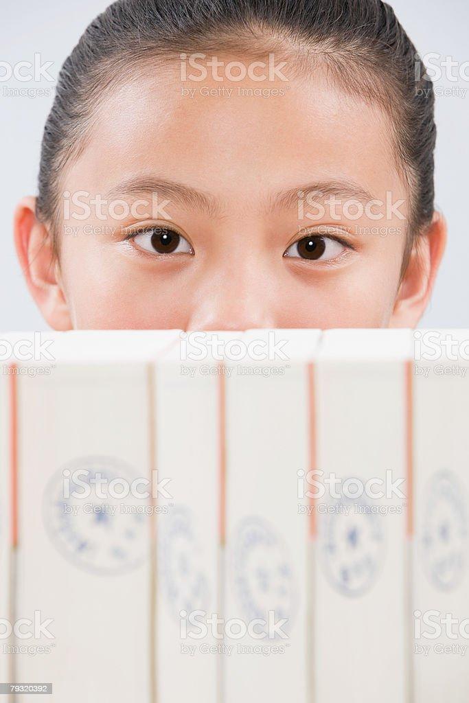 A girl peeking royalty-free 스톡 사진