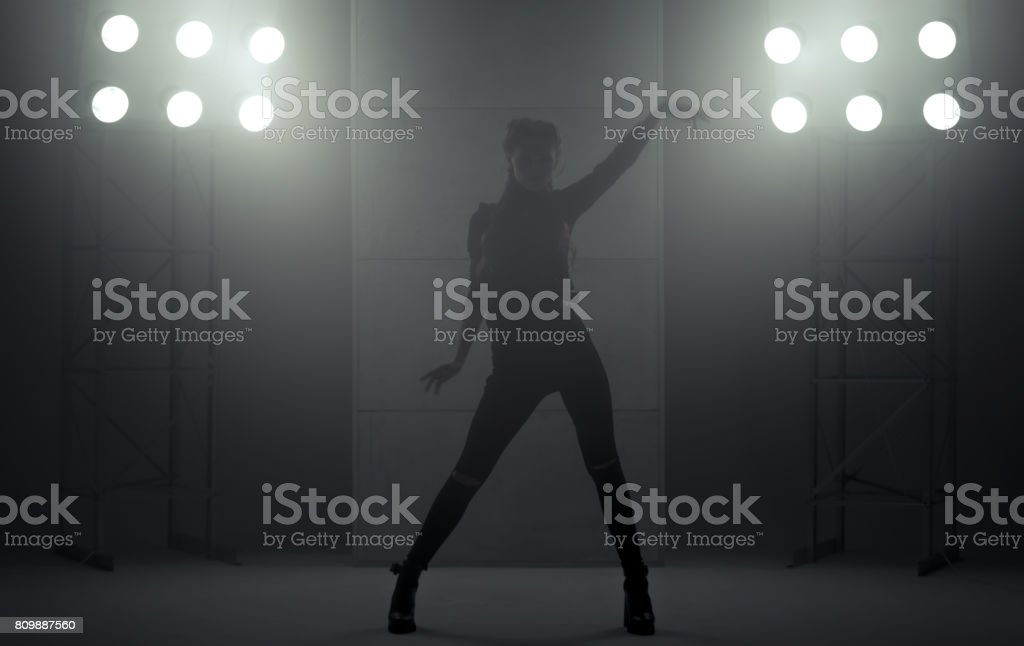 Girl Performing Vogue Dance stock photo