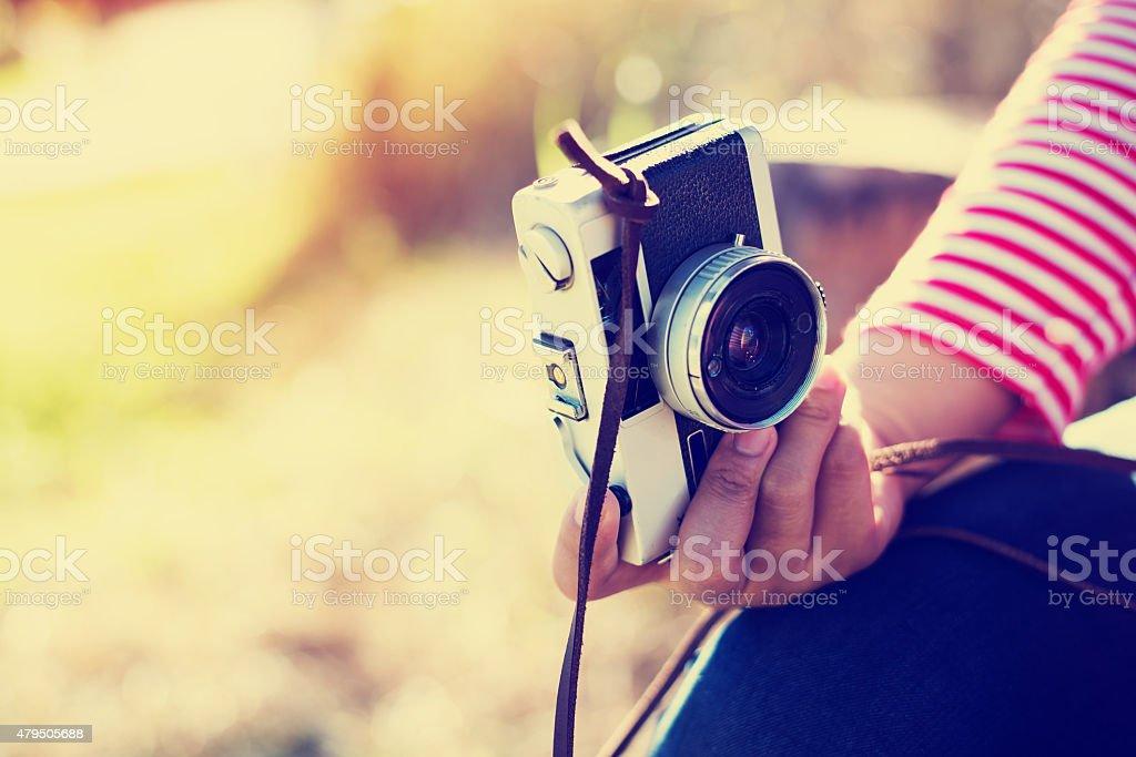 girl photographer - Royalty-free 2015 Stock Photo