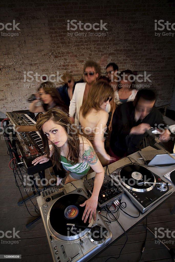 DJ Girl royalty-free stock photo