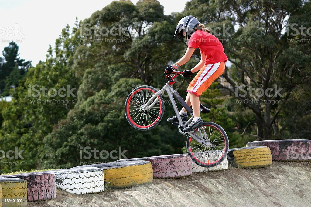 BMX Girl stock photo