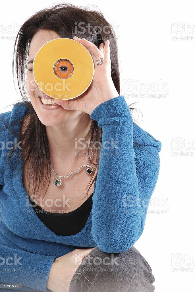 CD girl royalty-free stock photo