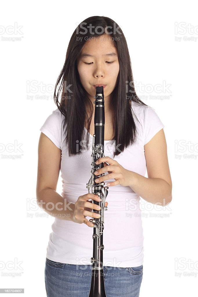 Nude girls with clarinet #2