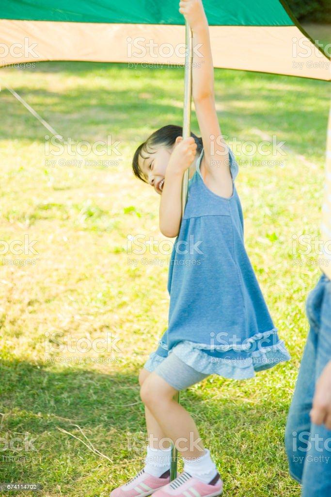 女孩玩 免版稅 stock photo