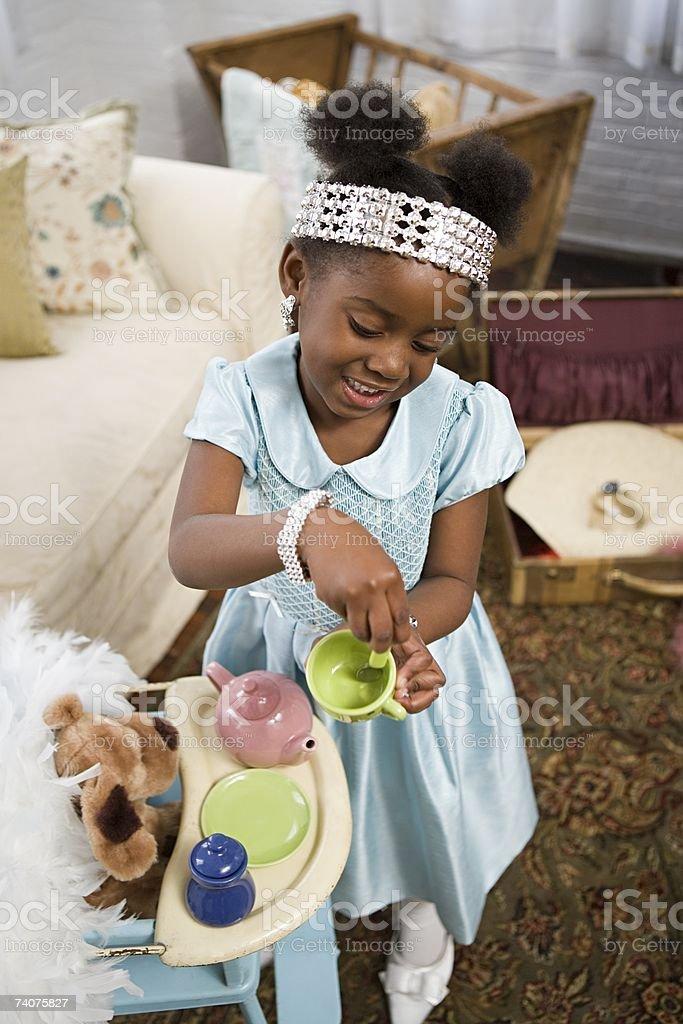 Girl playing royalty-free stock photo