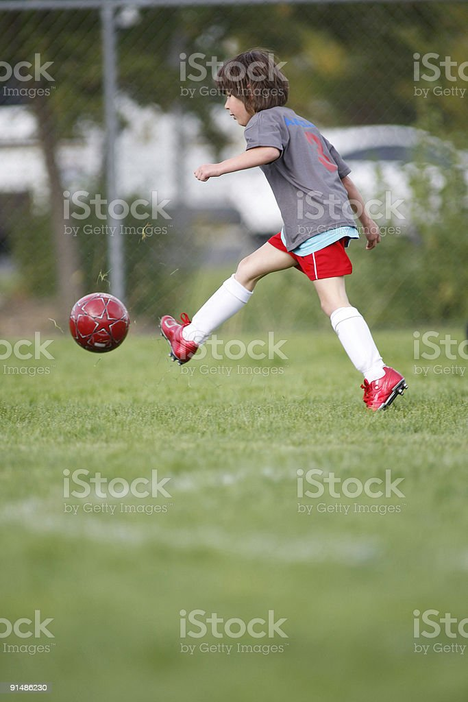 girl playing soccer royalty-free stock photo