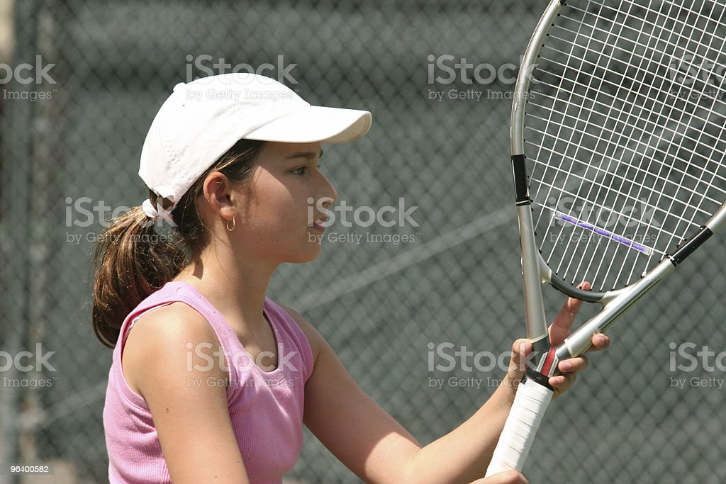 Girl playing tennis - Royalty-free Activity Stock Photo