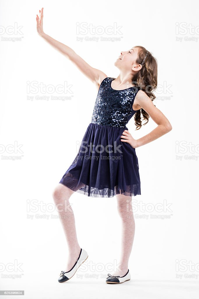 girl playing top fashion model stock photo