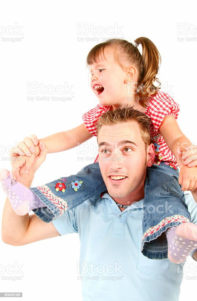 girl playing with her father royalty-free stock photo
