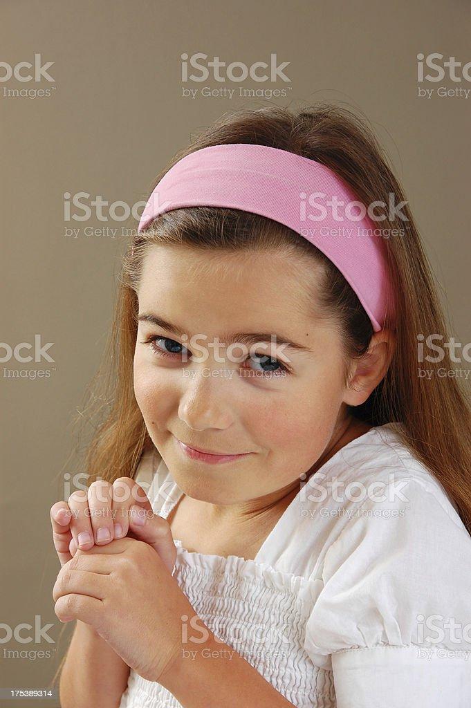 Girl Pleading royalty-free stock photo