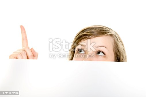 istock Girl pointing at something 172917204