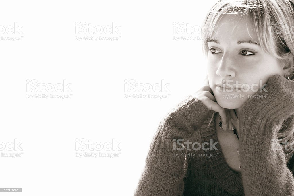 Girl portrait on white background 10 royalty-free stock photo