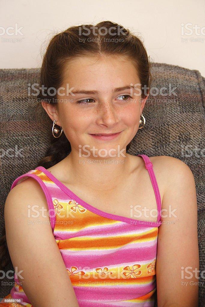 Retrato de la niña foto de stock libre de derechos