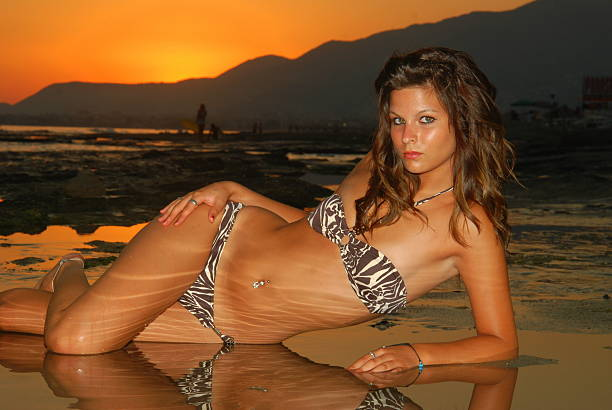 Girl, Pose am Strand – Foto