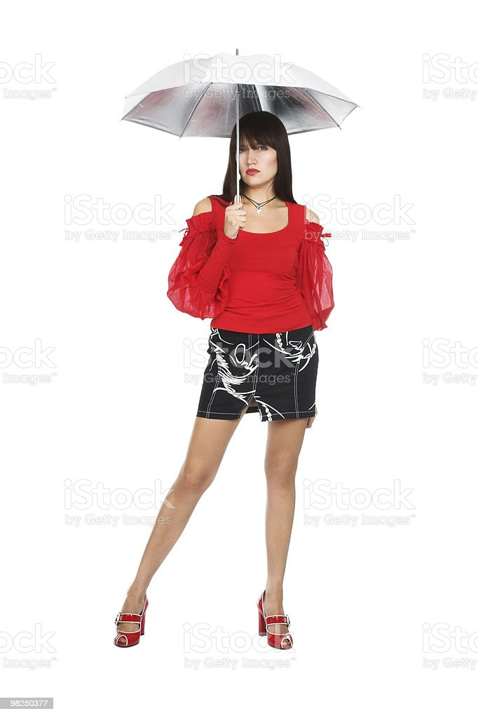 여자아이 위반할 수 있는 우산 royalty-free 스톡 사진