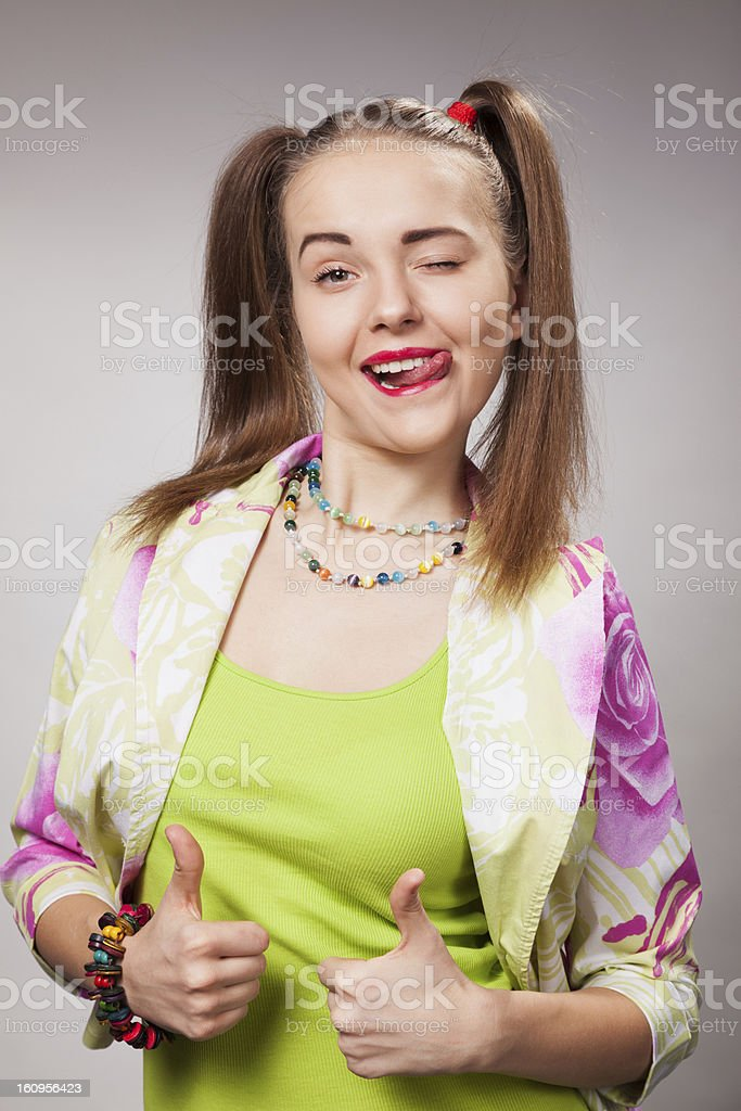 Girl poseur royalty-free stock photo