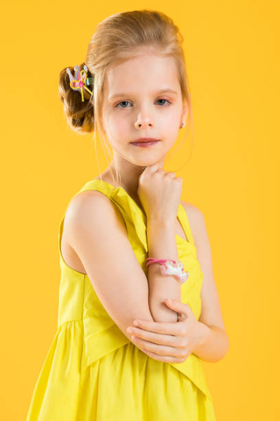 School Girl Pin Stock Photos, Pictures & Royalty-Free