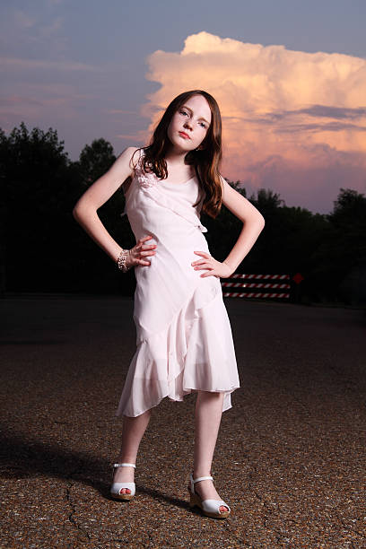 girl posing - tween models stock photos and pictures