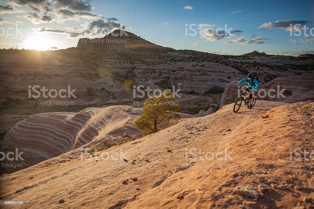 girl power adventure landscape stock photo