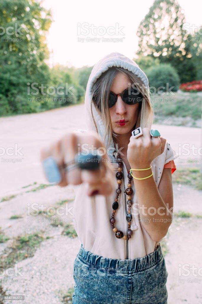Girl power! stock photo