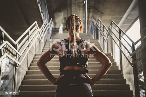 istock Girl prepairing for workout 615919228