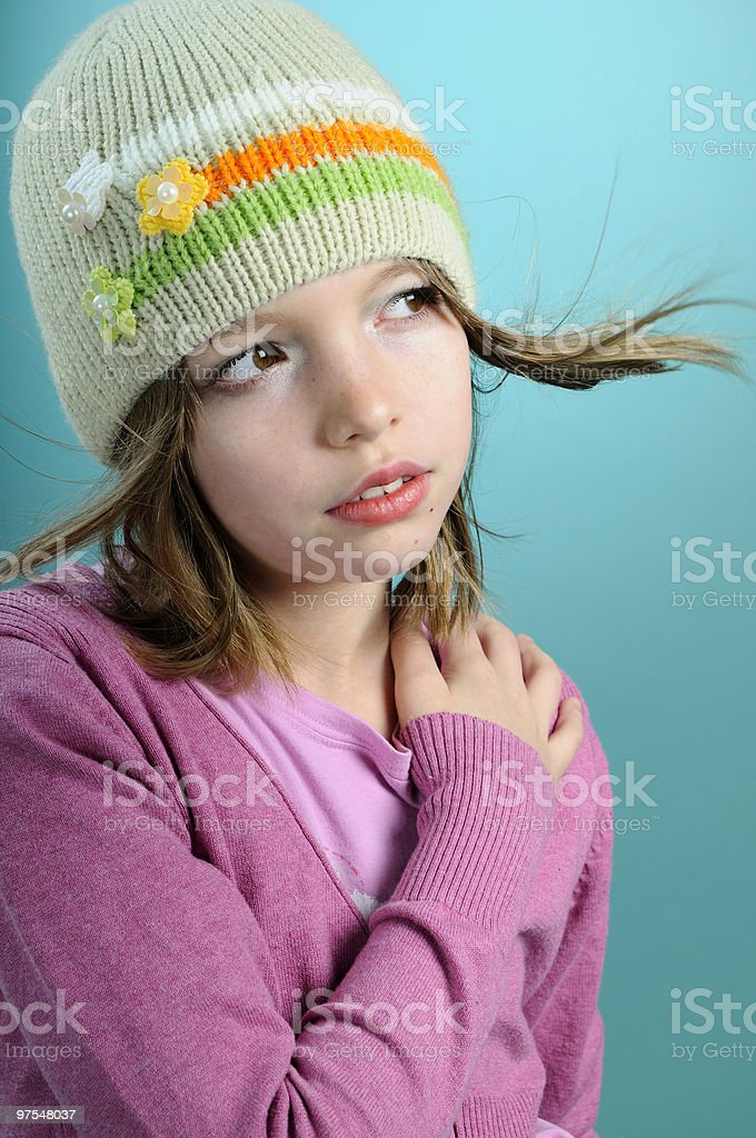 girl presenting spring collection royalty-free stock photo