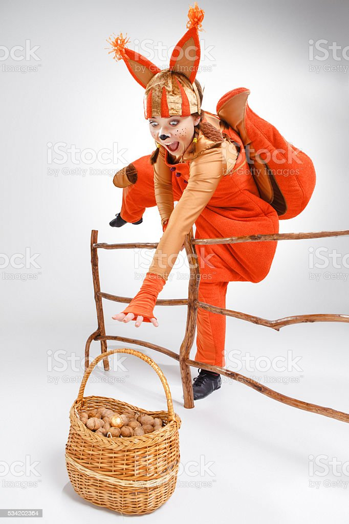 Girl pulling a rope stock photo