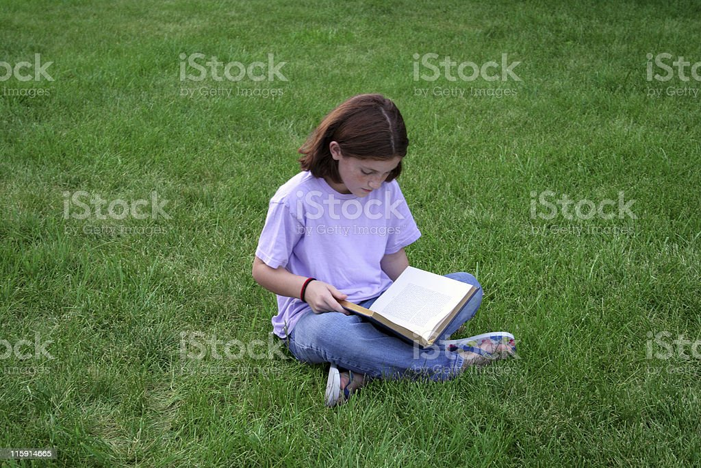 Girl Reading royalty-free stock photo