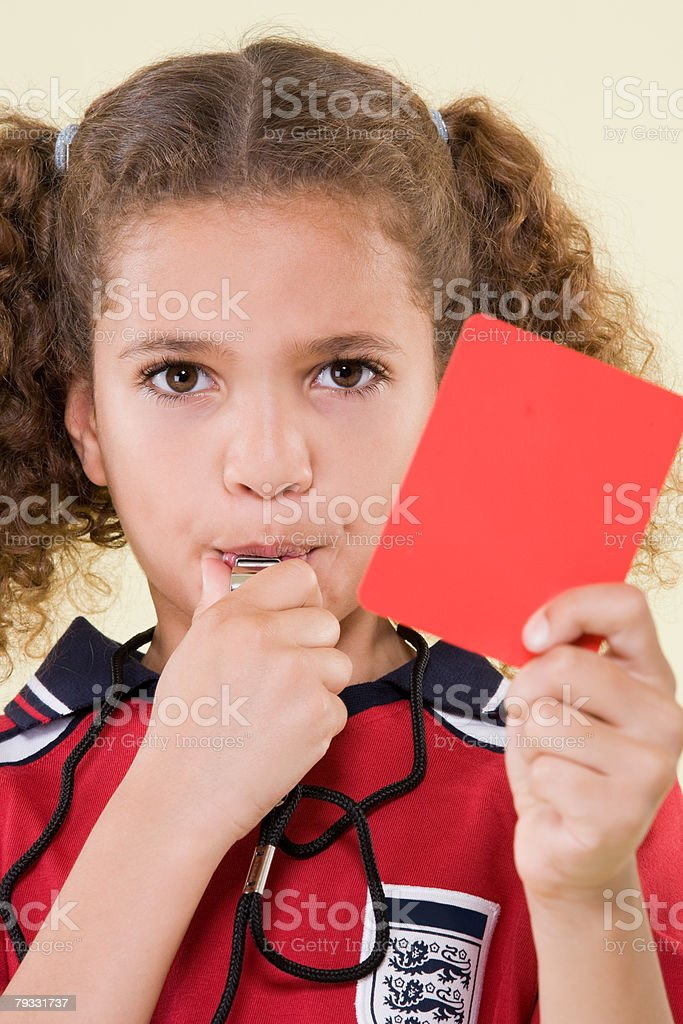 Girl referee royalty-free stock photo