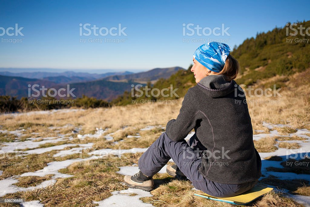 Girl resting on the nature. royalty-free stock photo