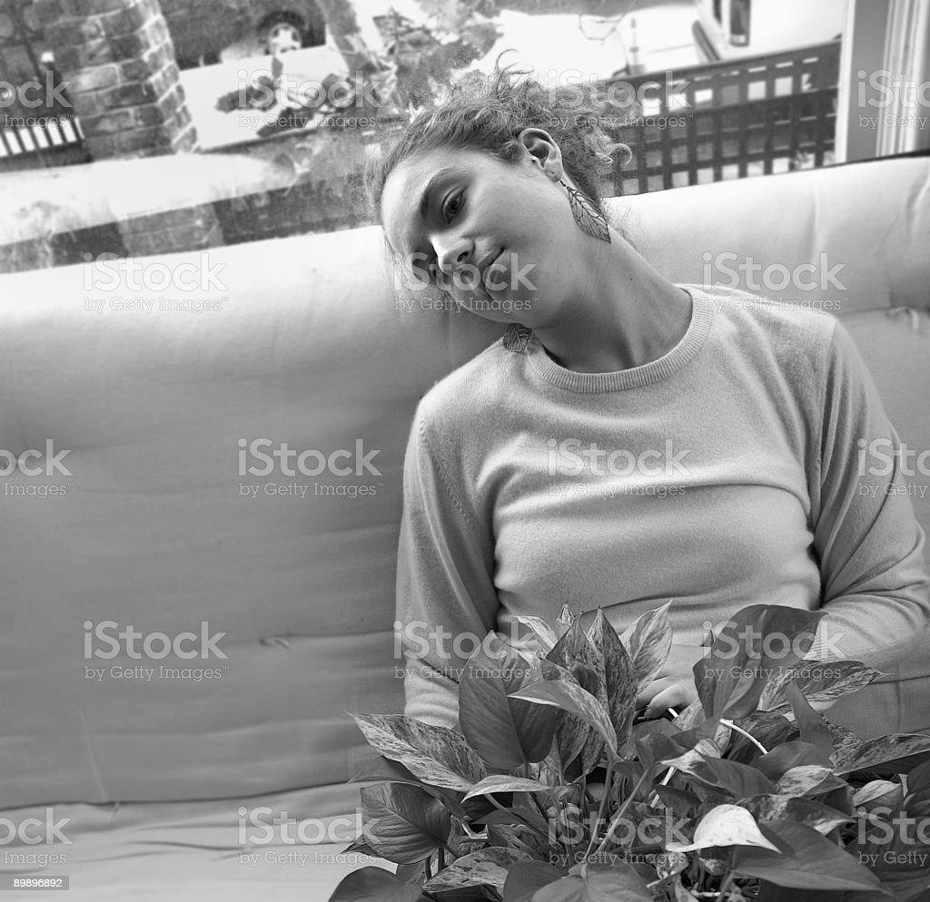 Girl resting royalty free stockfoto