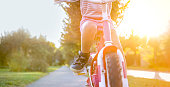 istock Girl riding bicycle 973258890