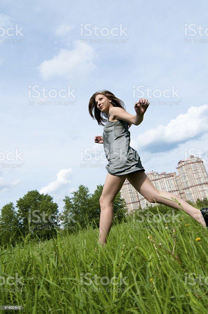 girl runing royalty-free stock photo