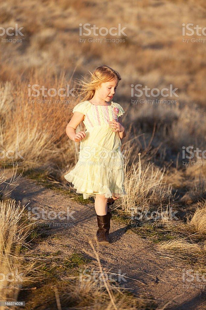 Girl running royalty-free stock photo