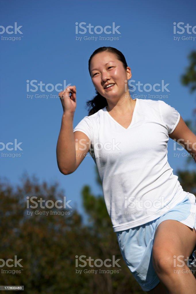 girl running (XXL) royalty-free stock photo