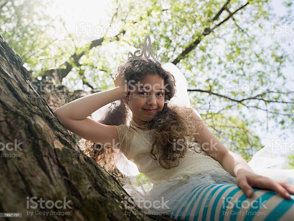 Girl sat in a tree 免版稅 stock photo