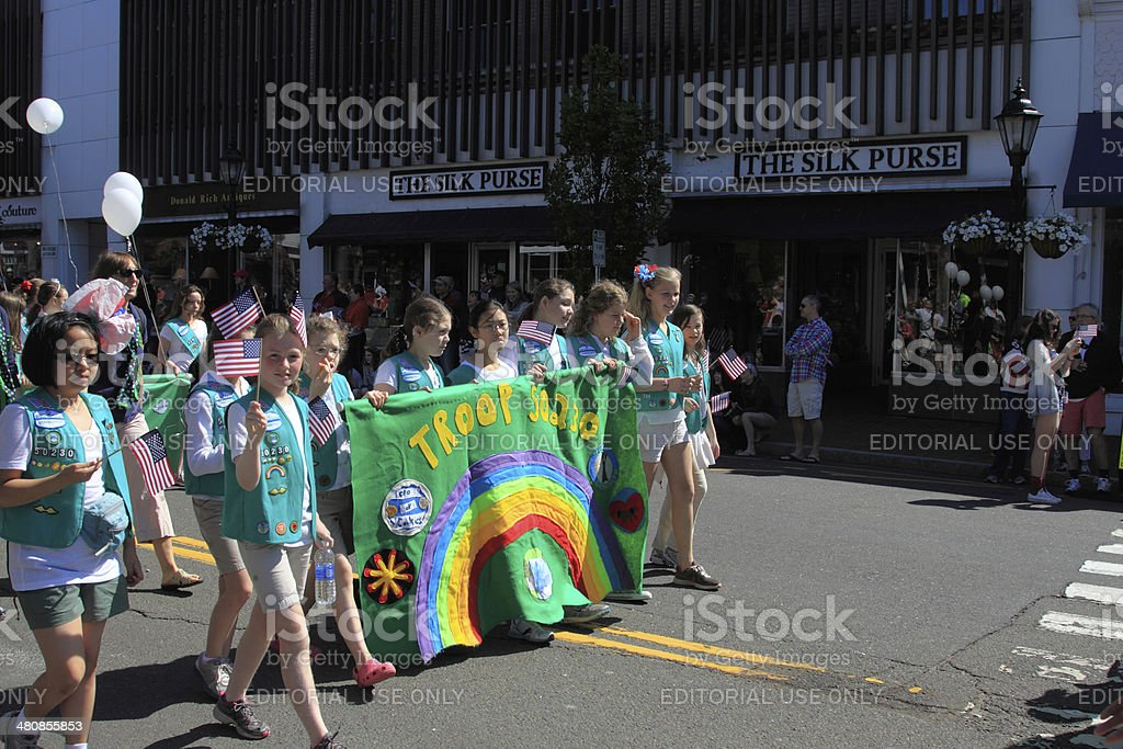 girl scouts stock photo