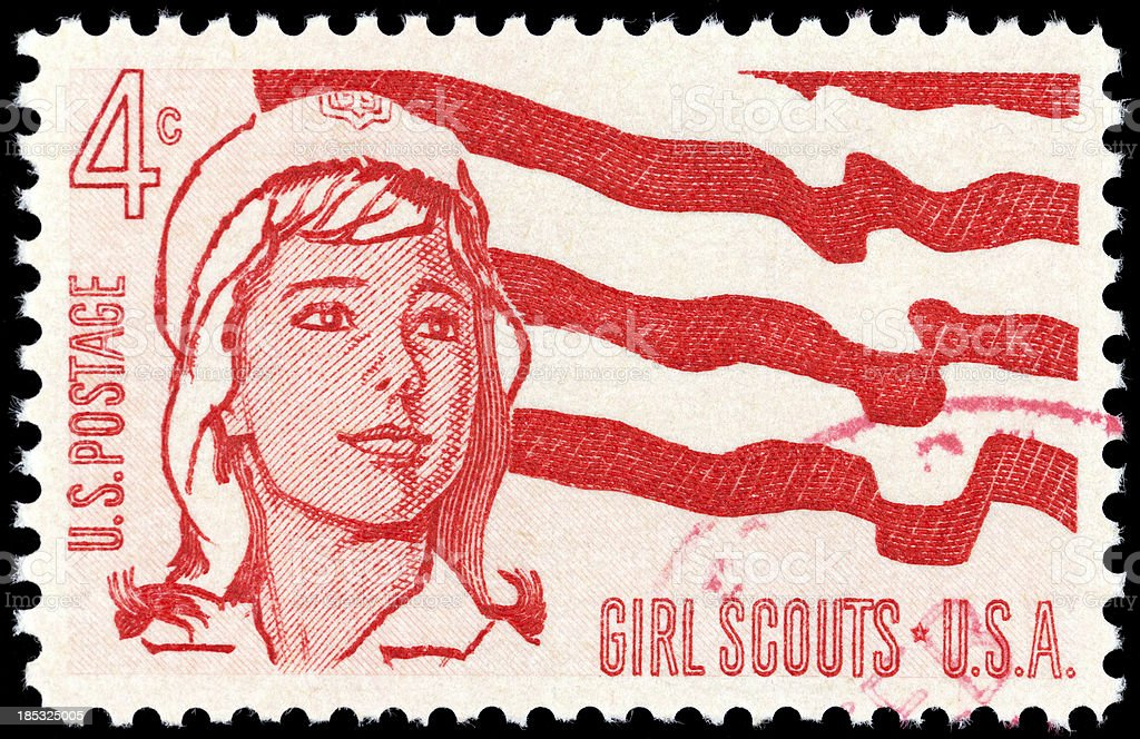 Girl Scouts USA royalty-free stock photo